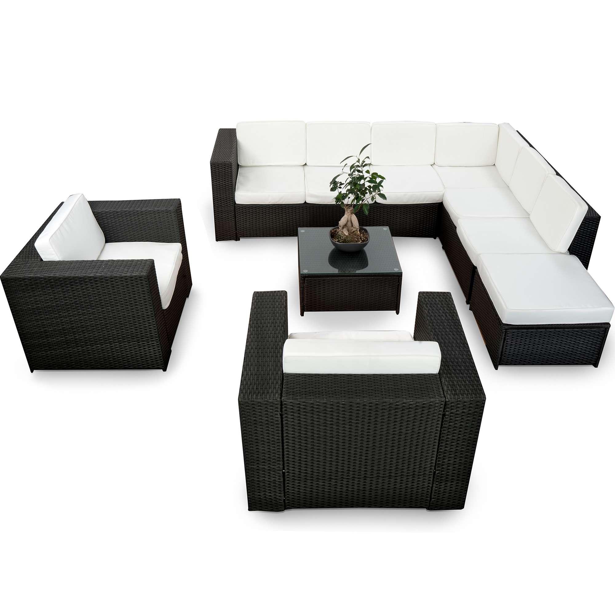 loungeset 2 personen amazing lounge set sunbrella grau sitzer arezzo ii with loungeset 2. Black Bedroom Furniture Sets. Home Design Ideas