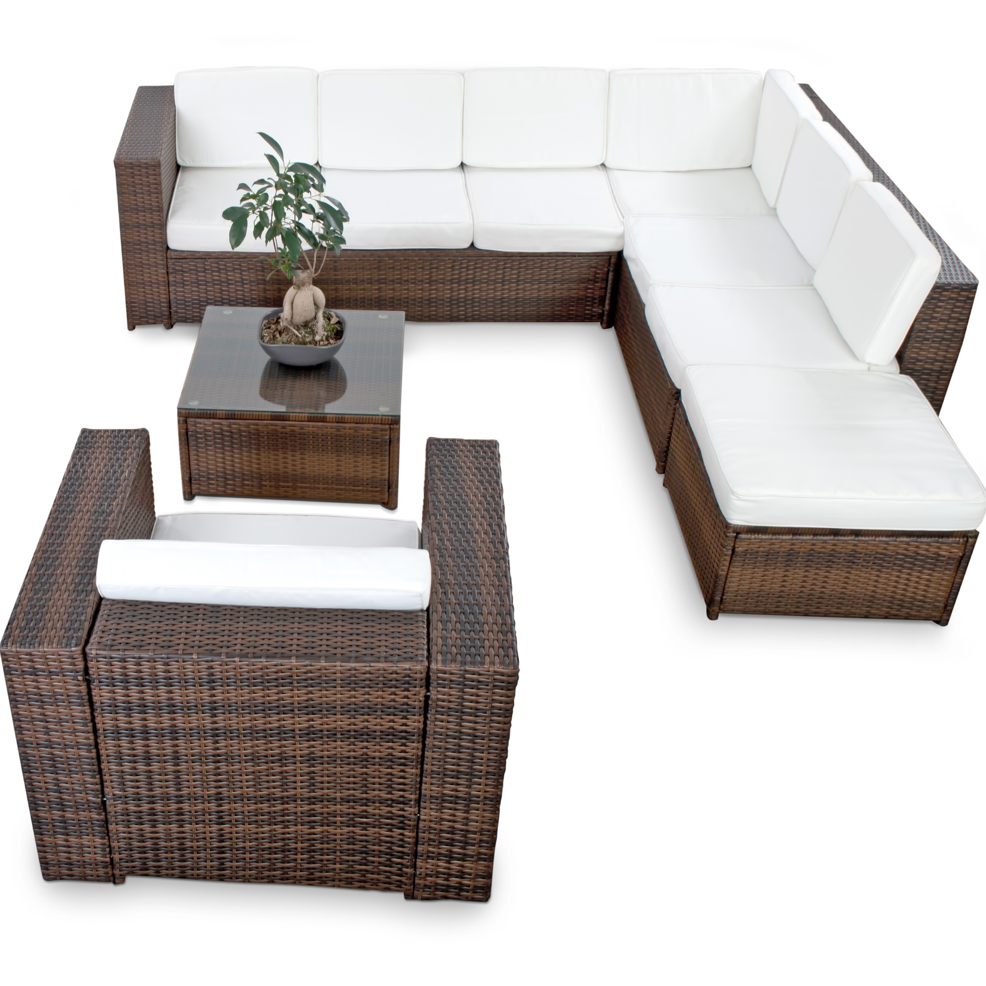 polyrattan lounge set g nstig lounge set polyrattan kaufen. Black Bedroom Furniture Sets. Home Design Ideas