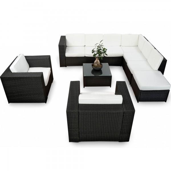 25 Tlg Garten Lounge Set Polyrattan ✓ XXXL ✓ Anthrazit