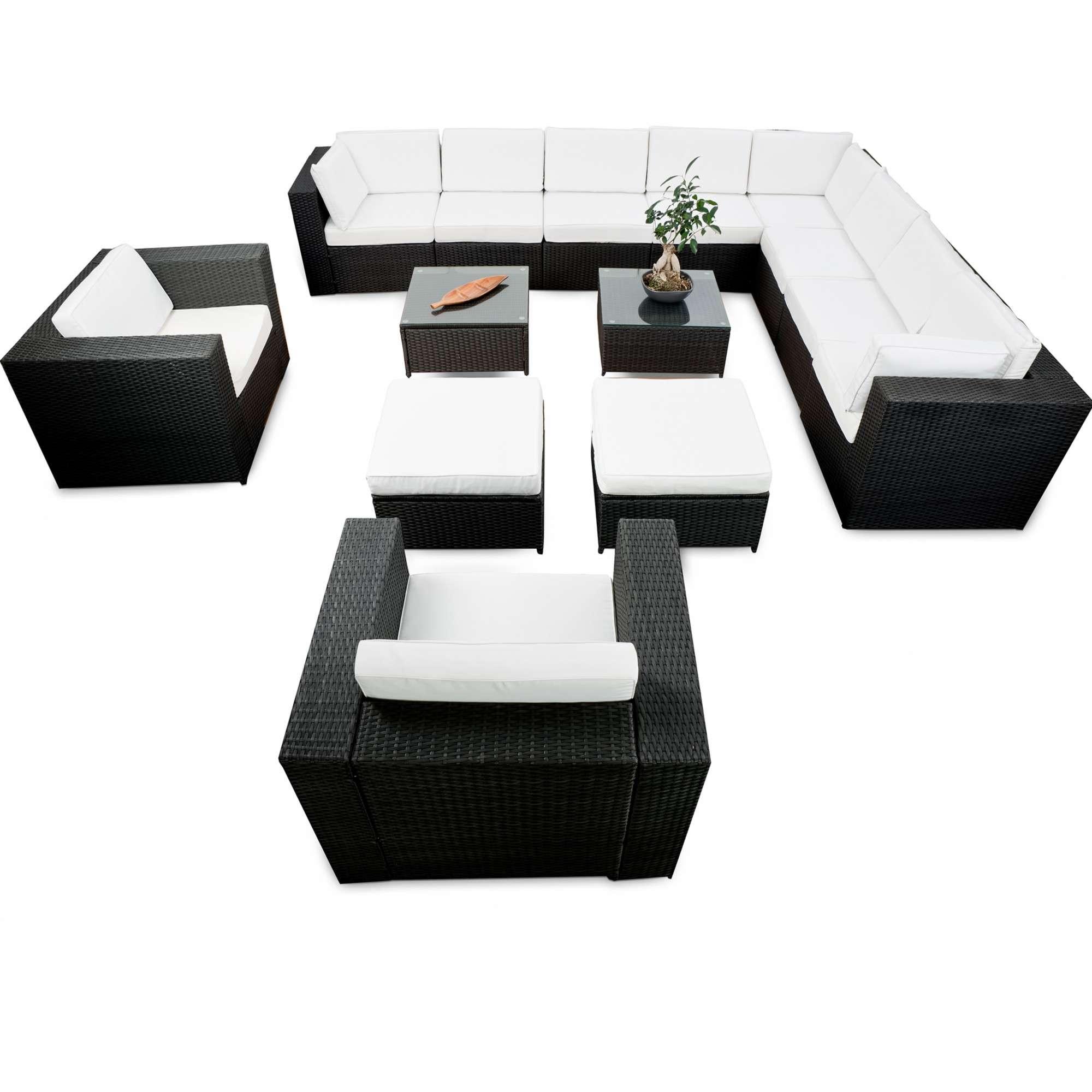 rattan lounge anthrazit. Black Bedroom Furniture Sets. Home Design Ideas