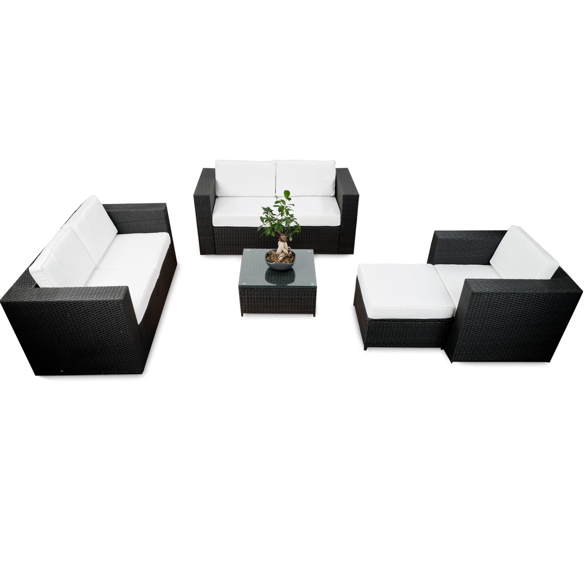 lounge set rattan g nstig rattan lounge set kaufen. Black Bedroom Furniture Sets. Home Design Ideas