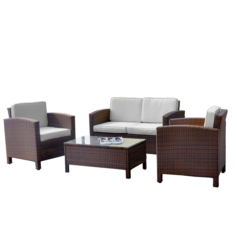 Hawaii poly rattan lounge schwarz  Lounge Set Balkon Hawaii ▻ günstig ◅ Lounge Set Balkon kaufen