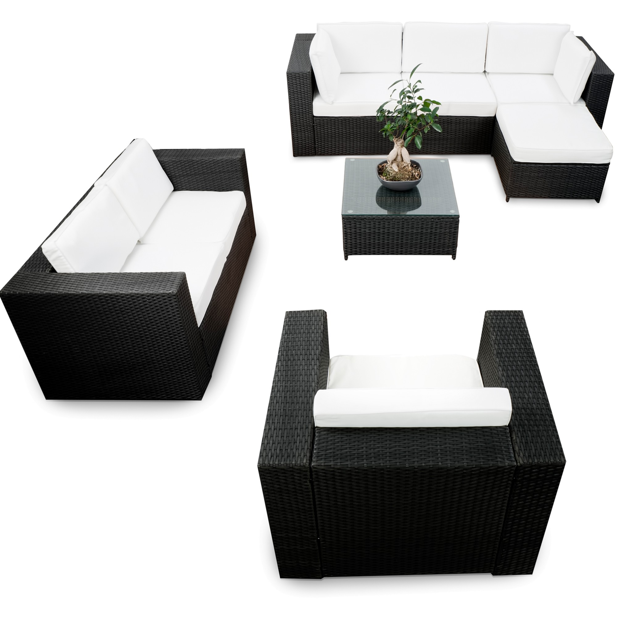 rattan lounge ausverkauf g nstig lounge rattan angebot kaufen. Black Bedroom Furniture Sets. Home Design Ideas