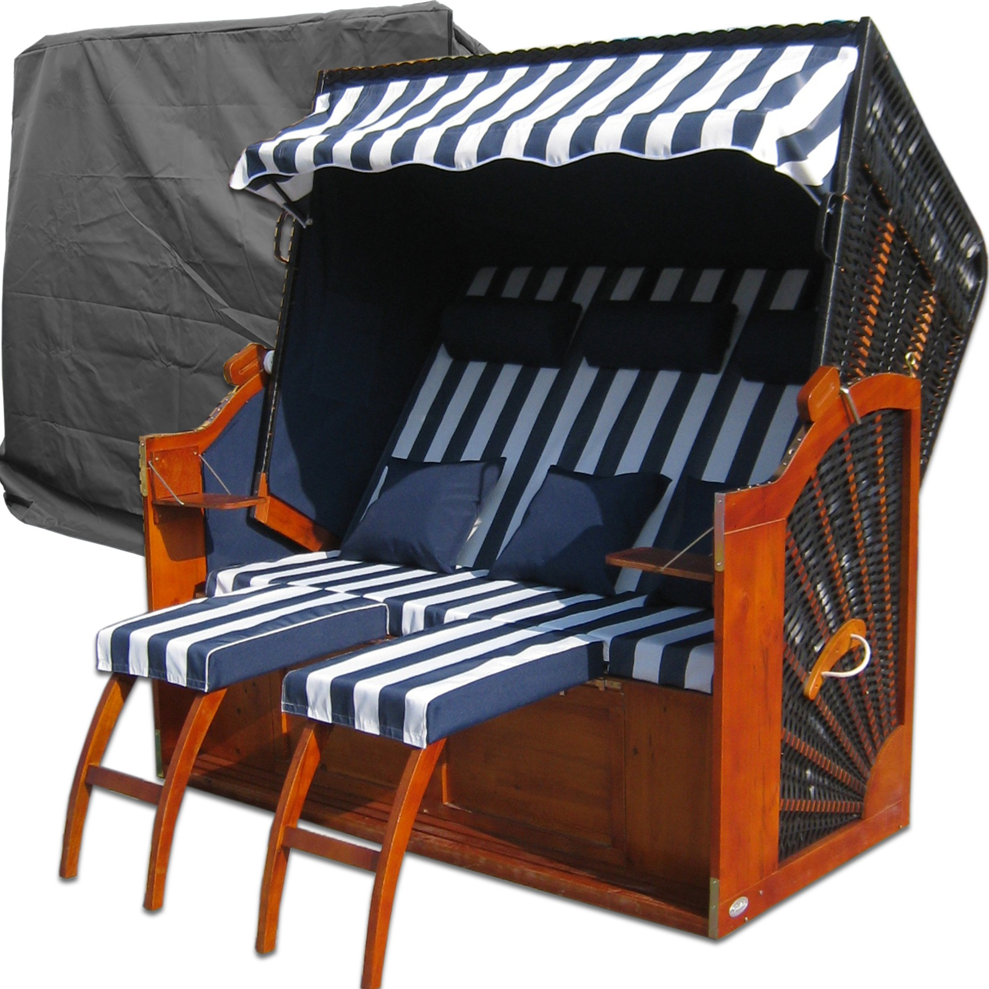 strandkorb blau kaufen xxl strandkorb g nstig. Black Bedroom Furniture Sets. Home Design Ideas
