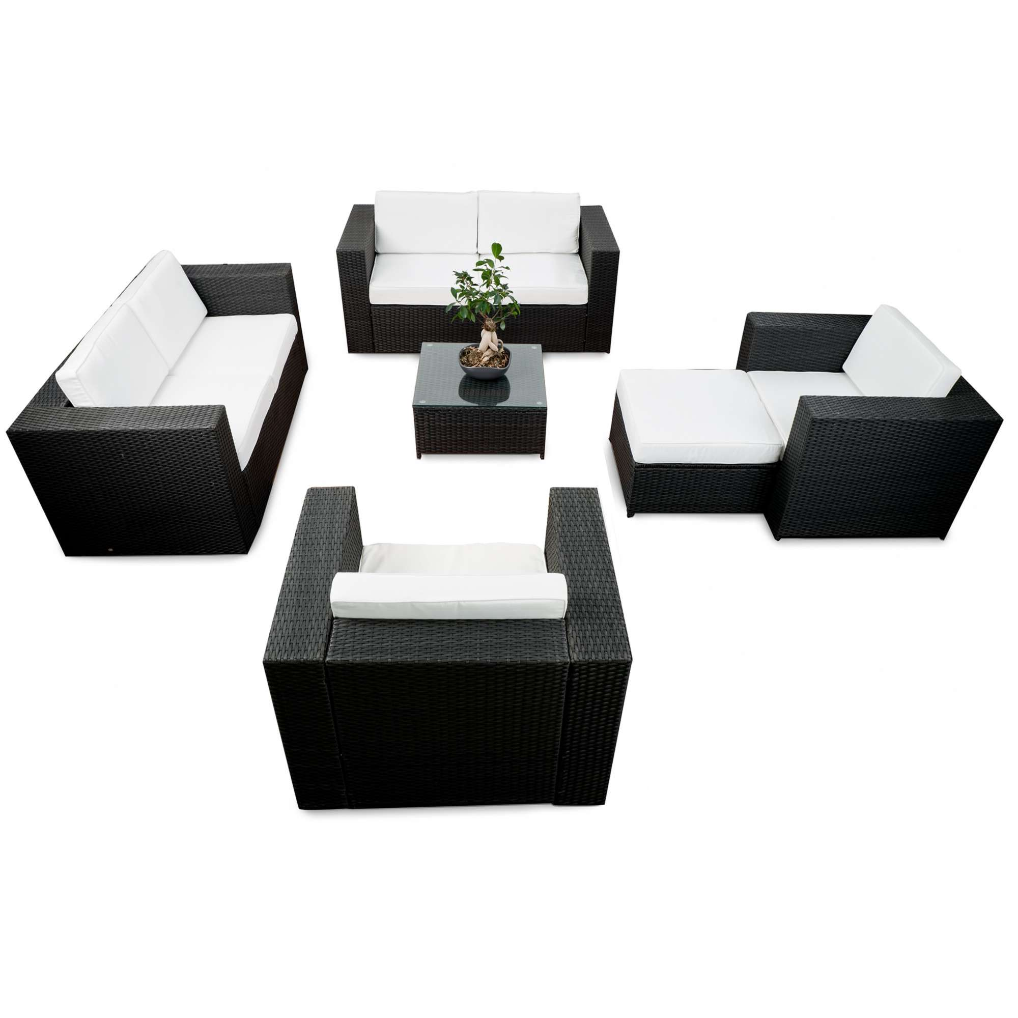rattan lounge anthrazit. Black Bedroom Furniture Sets. Home Design Ideas