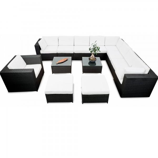 gartenmobel polyrattan anthrazit, gartenmoebel rattan lounge ▻ günstig ◅ rattan lounge gartenmöbel, Design ideen