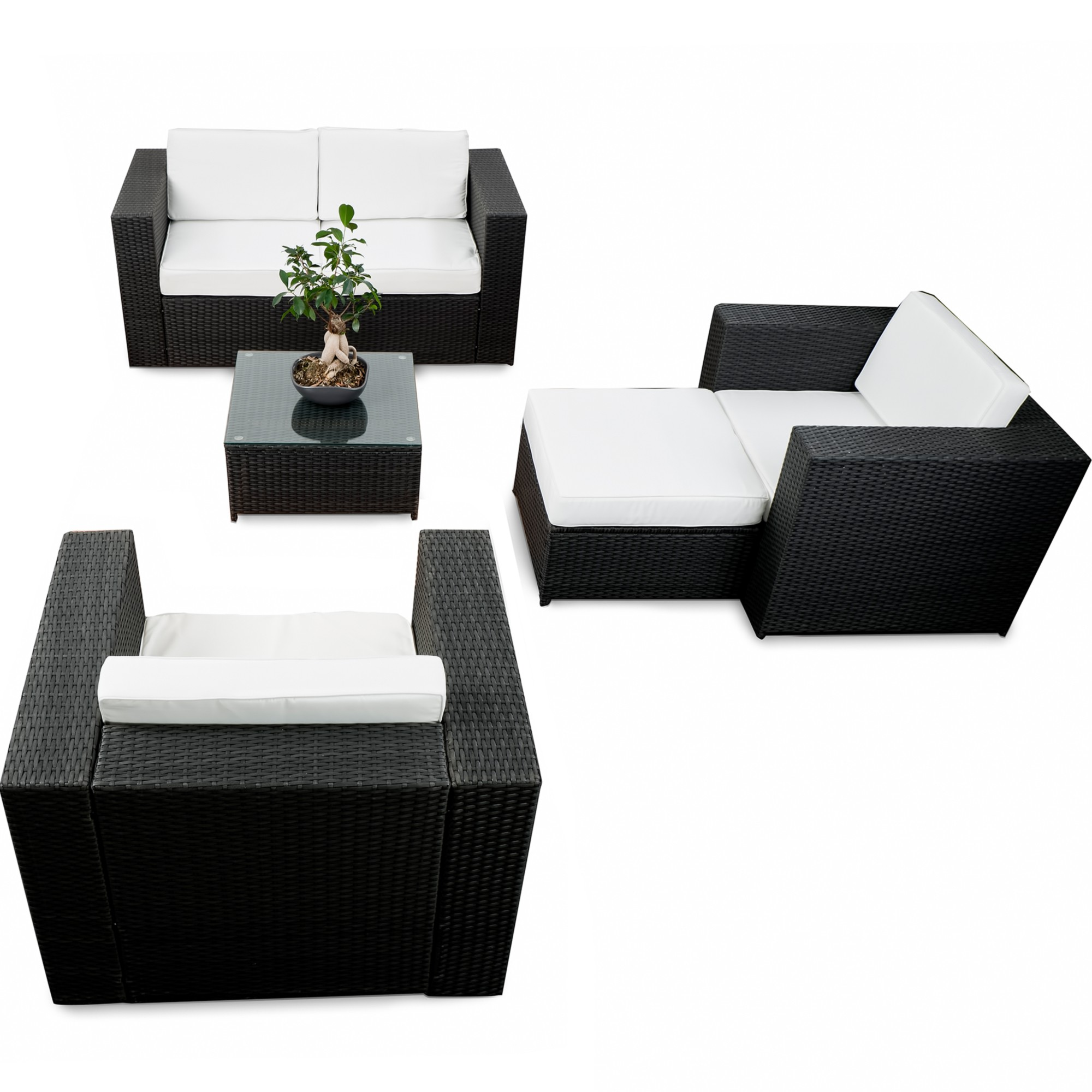 gartenm bel set lounge. Black Bedroom Furniture Sets. Home Design Ideas