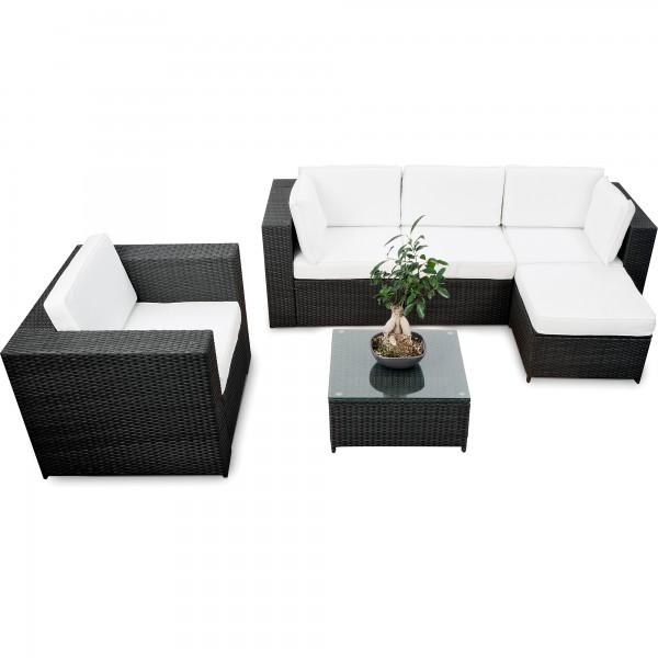 18 Tlg Lounge Set Garten Polyrattan ✓ XXL ✓ Anthrazit