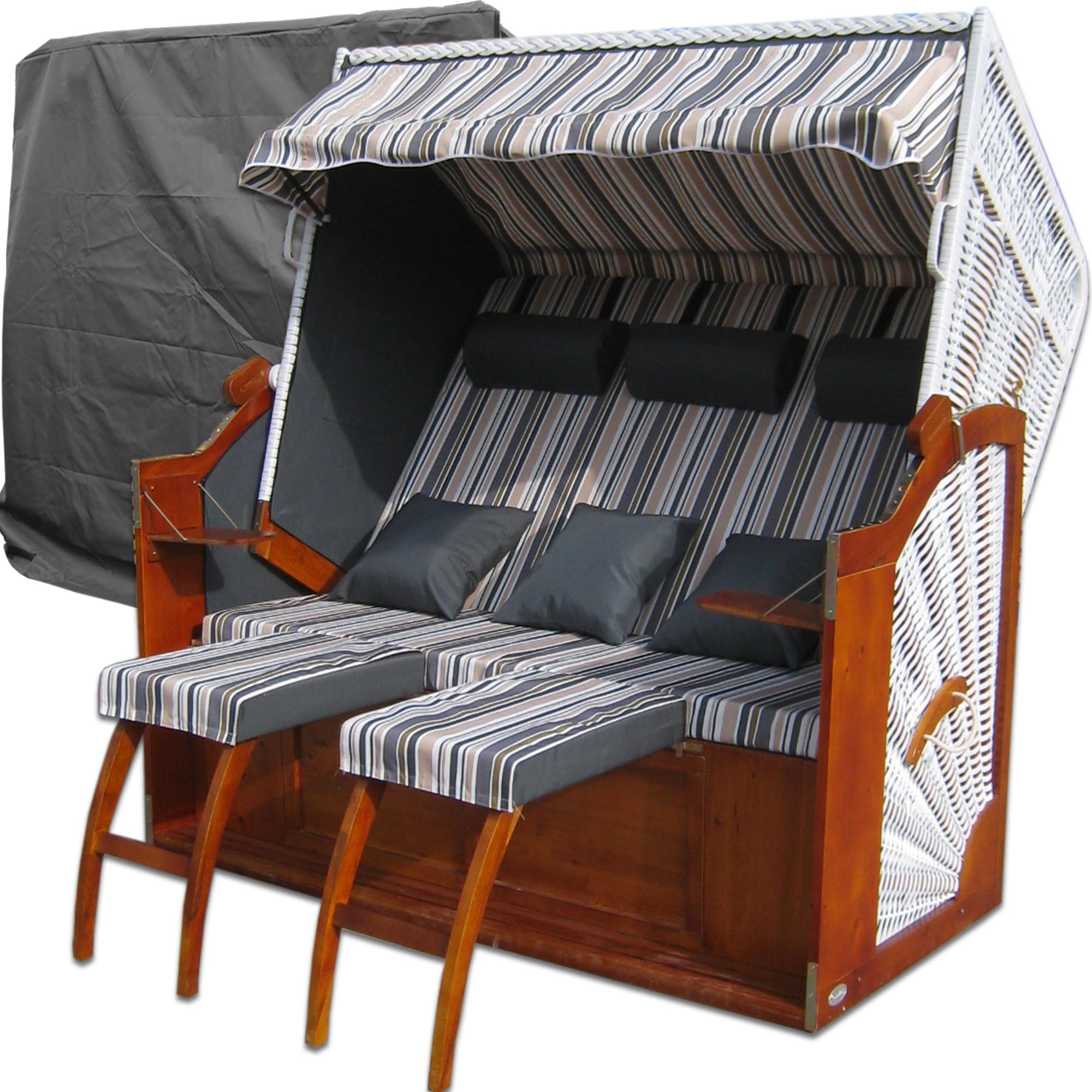 strandkorb xxxl weiss grau g nstig strandkorb xxl kaufen. Black Bedroom Furniture Sets. Home Design Ideas