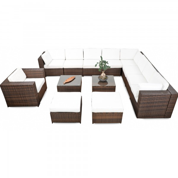 Trendy Awesome Tlg Loungembel Set Polyrattan Xxxl Braun With Lounge Set  Polyrattan With Outdoor Loungembel Polyrattan.