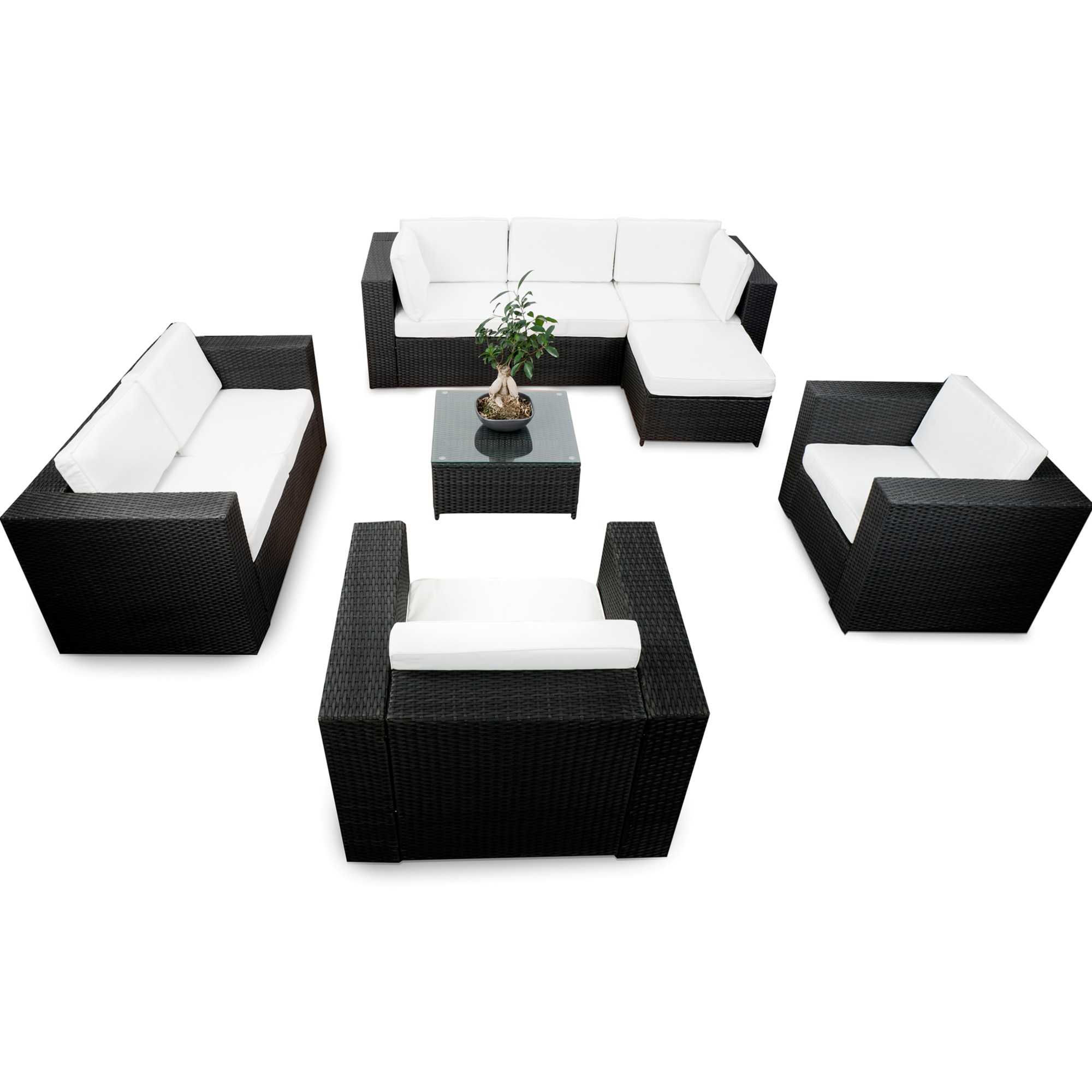 loungem bel rattan g nstig rattanm bel lounge kaufen. Black Bedroom Furniture Sets. Home Design Ideas