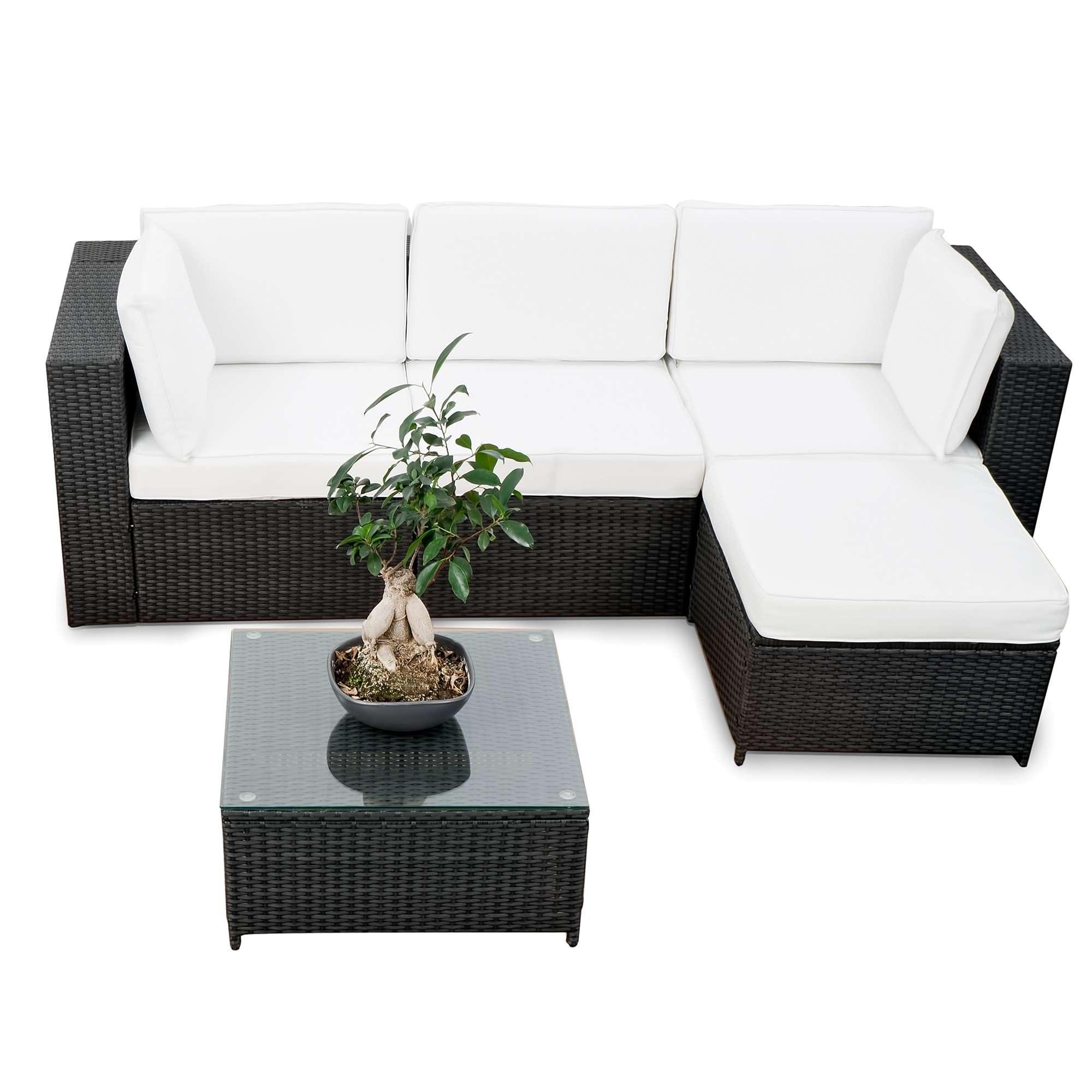Modulares 21Tlg. Gartenmöbel Xxl Polyrattan Garten Lounge Möbel ...