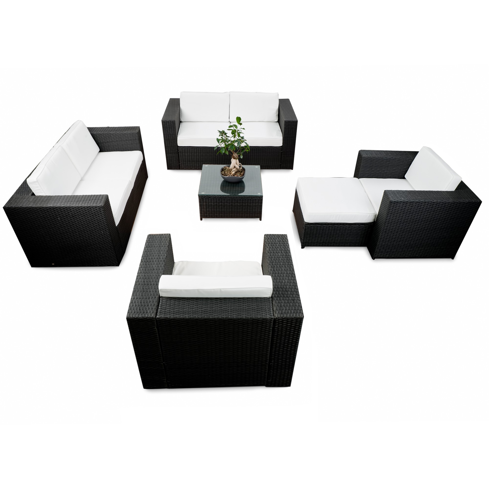 rattan lounge m bel g nstig lounge rattanm bel kaufen. Black Bedroom Furniture Sets. Home Design Ideas