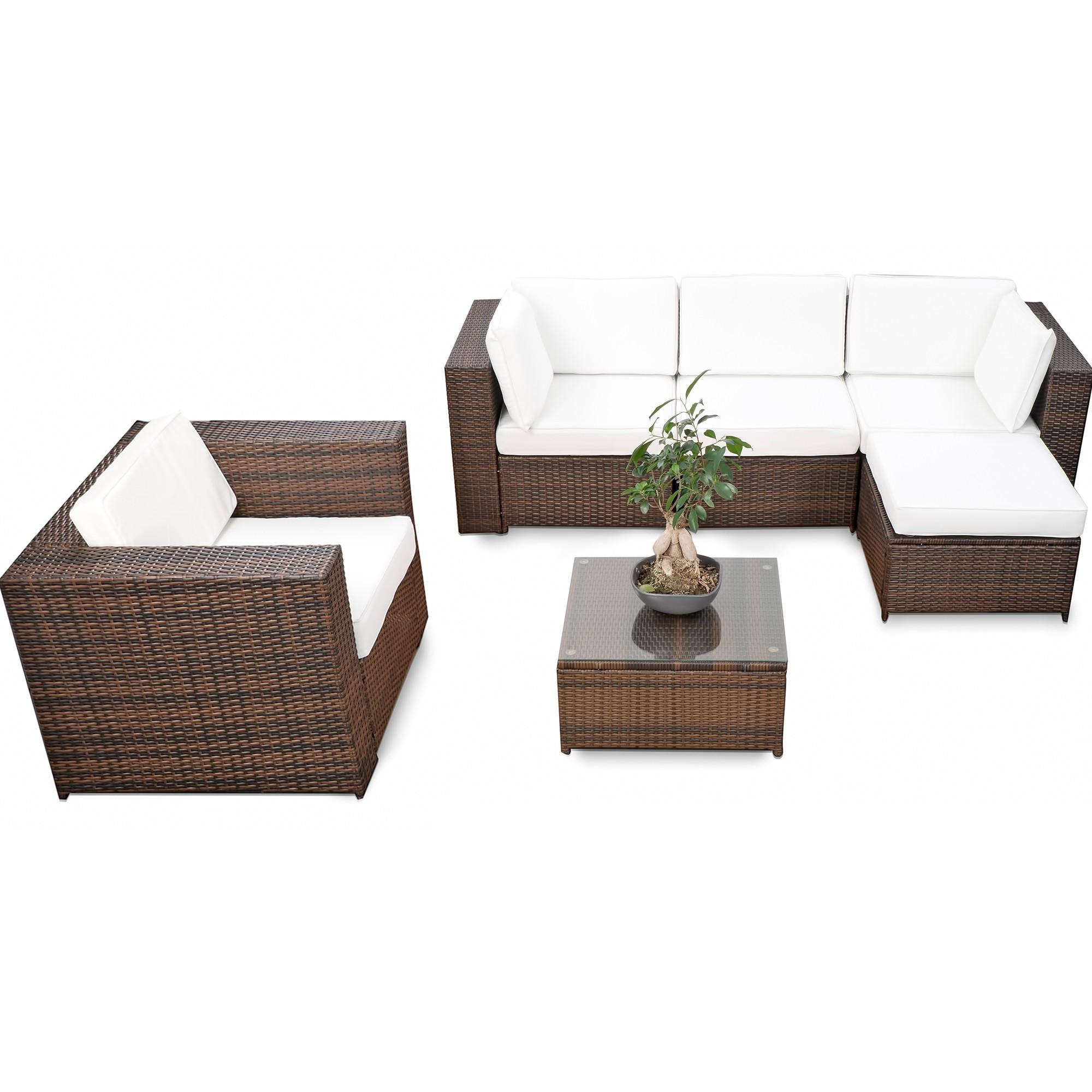Lounge Gartenmoebel Polyrattan ▻ Günstig ◅ Polyrattan Gartenmöbel Lounge  Kaufen