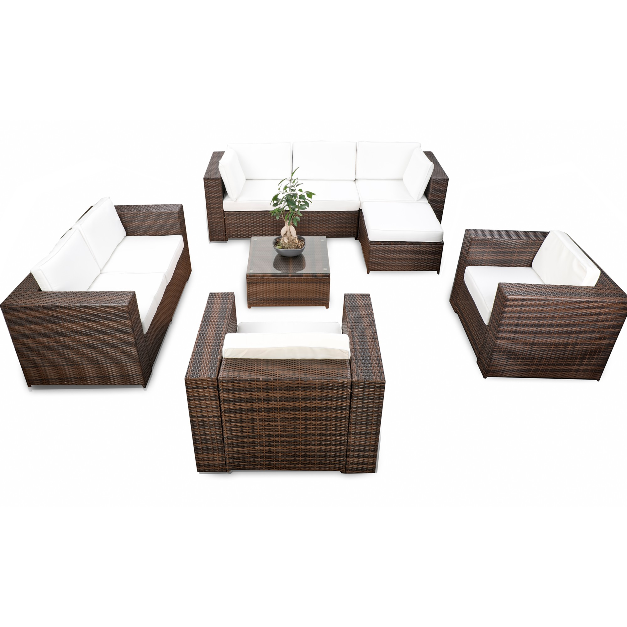 gartenlounge polyrattan g nstig rattan gartenlounge kaufen. Black Bedroom Furniture Sets. Home Design Ideas