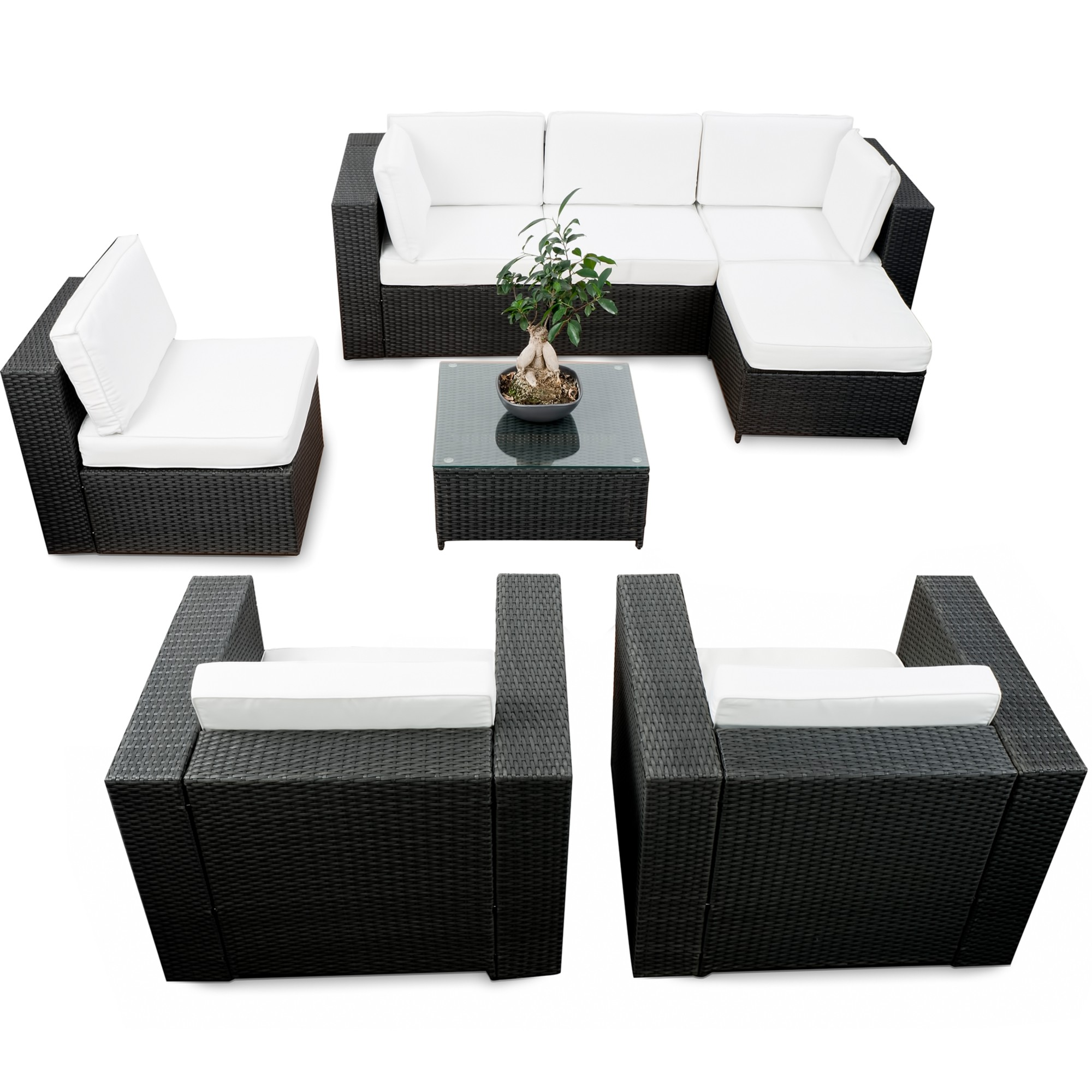 lounge polyrattan g nstig polyrattan lounge kaufen. Black Bedroom Furniture Sets. Home Design Ideas