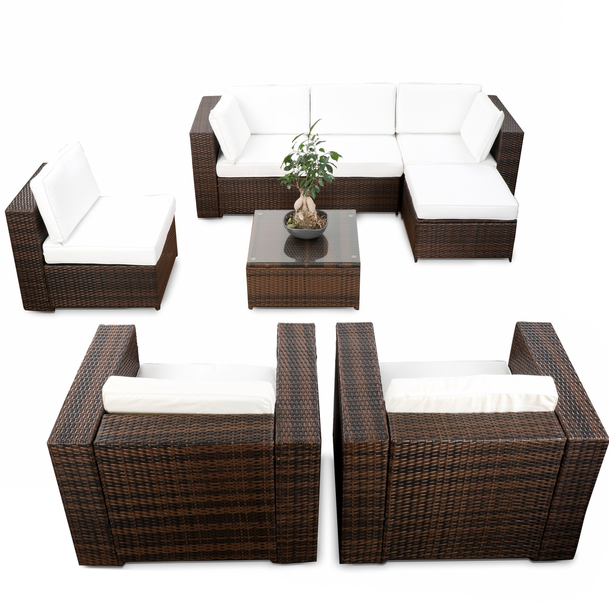 polyrattan lounge g nstig lounge rattan kaufen. Black Bedroom Furniture Sets. Home Design Ideas