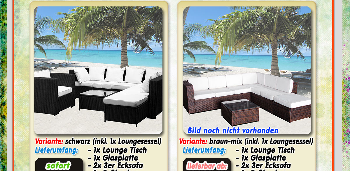 luxus xxxl polyrattan loungem bel set gartenm bel polyrattan loungeset g nstig ebay. Black Bedroom Furniture Sets. Home Design Ideas
