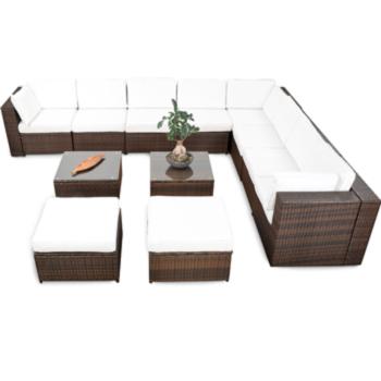 35tlg XXL Polyrattan Gartenmöbel Garten ECK Lounge Möbel Set ...