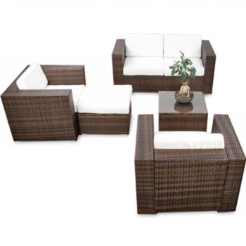 XXL Gartenmöbel Polyrattan Lounge Sessel Lounge Stuhl Garten Sofa ...