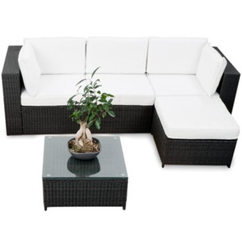 15tlg XXL Polyrattan Gartenmöbel Eck Lounge Möbel Set Sitzgruppe ...