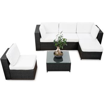 18tlg XXL Polyrattan Gartenmöbel Garten Eck Lounge Möbel Set ...