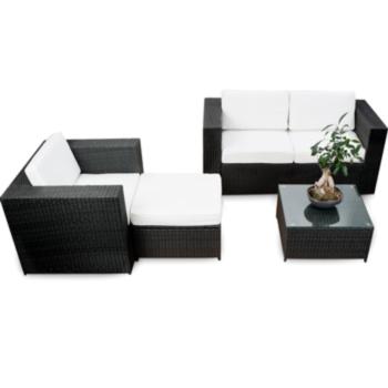 XXXL Gartenmöbel Polyrattan Lounge Möbel Sofa Couch Bank 2er Sessel ...